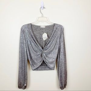 NEW Altar'd State Gunmetal Crop Top - S
